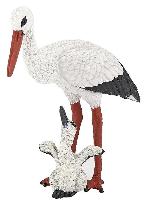Papo - Cigogne et son bébé - Plastique - 50159