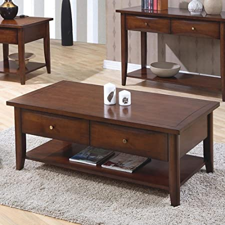 Coaster Home Furnishings 700958 Casual Coffee Table, Walnut