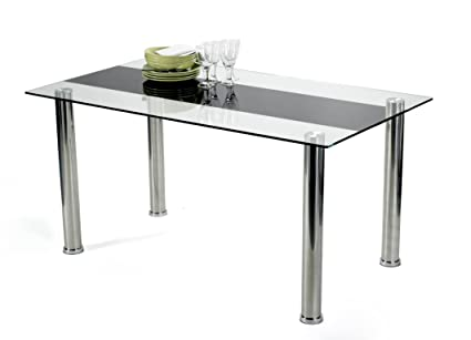 Table en verre 140 x 80 - Table salle a manger 140 x 80 ...