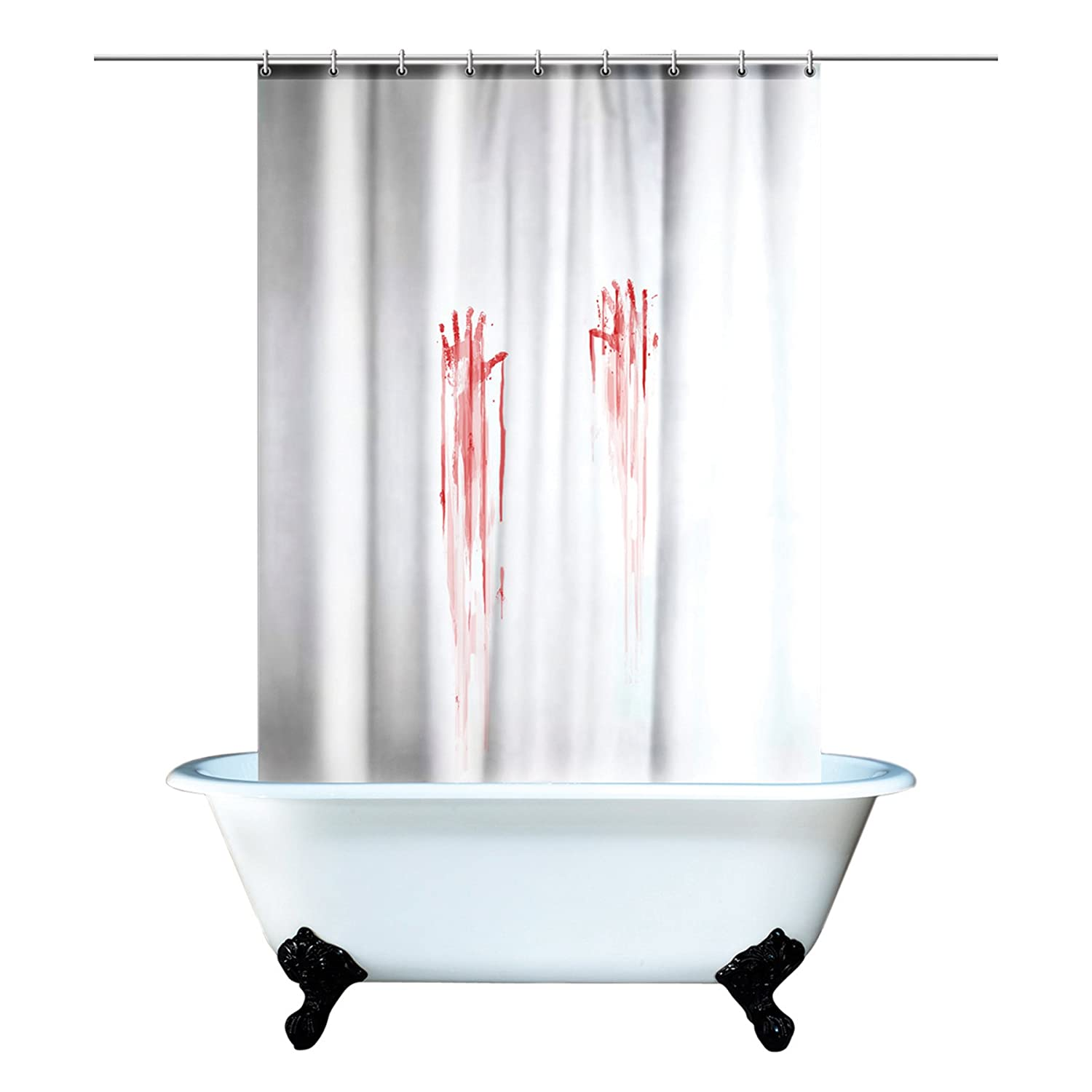 geeky shower curtains. Bloody Hand Print Shower Curtain \ Geeky Curtains