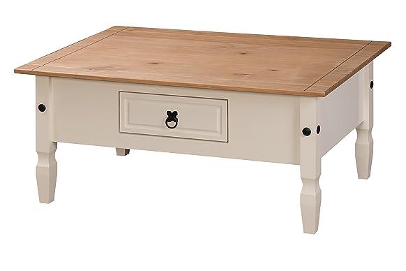 Mercers Furniture–Tavolino da caffé, modello: Corona, in legno, colore: crema/Pino Antico
