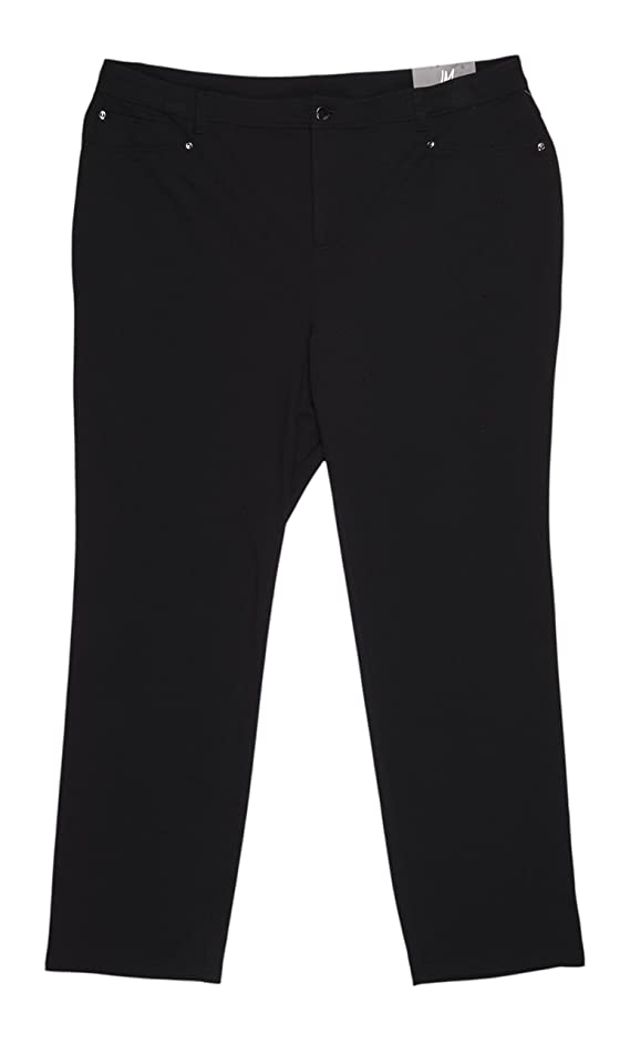 JM Collection Womens Plus Ponte Five Pocket Casual Pants