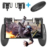 New Mobile Game grip and joystick, Sensitive Shoot and Aim Buttons L1&R1 for PUBG/Fortnite/Rules of Survial, Controller Holder with Ergonomic Design for 4.5-6.5inch SmartPhones (Color: Black)