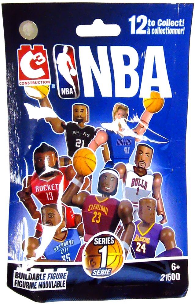 Amazon.com : C3 Construction NBA Series 1 Mini-figures - Houston ...