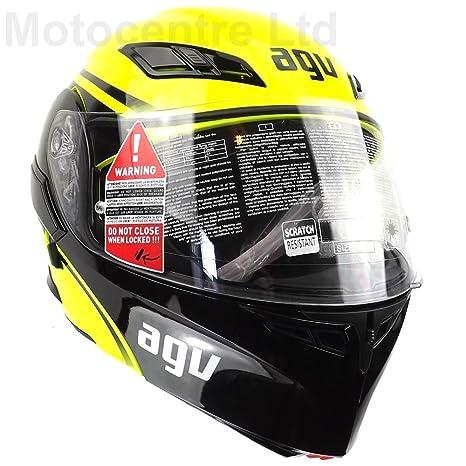 AGV Helmets 1021A2EY_004_L Casque de Moto, Jaune, Taille L