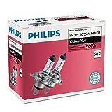 PHILIPS H4 12V 60/55W P43t-38 VisionPlus Car Headlight Bulbs 60% more light Twin