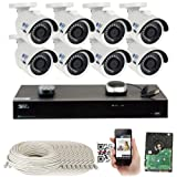 GW 8 Channel H.265 PoE NVR Ultra-HD 4K (3840x2160) Security Camera System with 8 x 4K (8MP) 2160p IP Camera, 100ft Night Vision, Outdoor Indoor Surveillance Camera (Color: UltraHD 4K (8MP) Resolution, Tamaño: 8 Camera System)