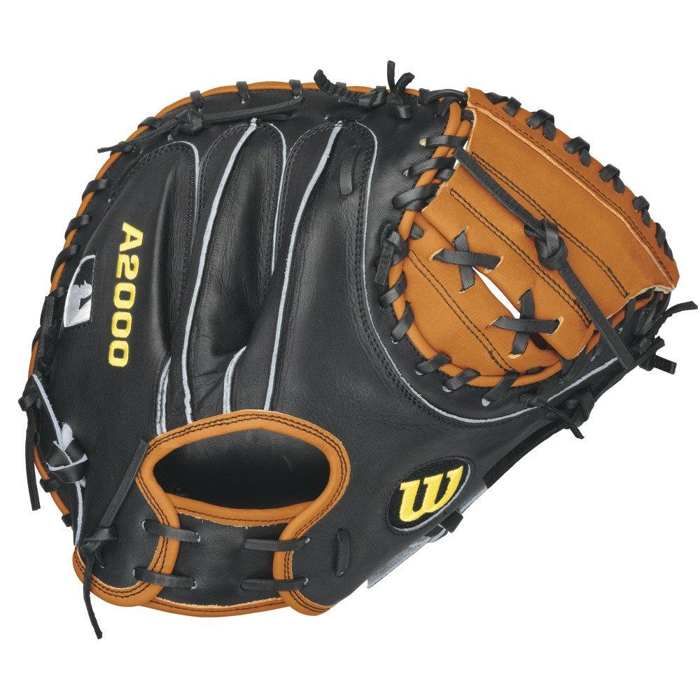 Wilson A2000Pudge Baseball Catcher 's Mitt, Orange/Schwarz, Rechte Hand werfen, 32.5-inch günstig kaufen