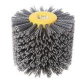 SIGNI New Abrasive Wire Drawing Wheel Drum Burnishing Polishing Brush for wooden furniture floor polishing 120X100mm 80 Grit 1pack (Tamaño: 80#)