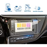 2017 Toyota Corolla 7 Inch Entune Car Navigation Screen Protector, LFOTPP Tempered Glass Infotainment Display in-Dash Media Center Touch Screen Protector Scratch-Resistant (Color: 2017 Toyota Corolla 7 Inch)