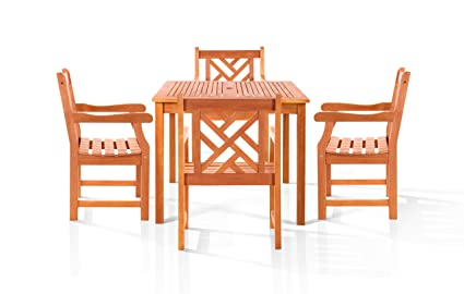 Vifah V1401SET3 Danis Outdoor Dining Set