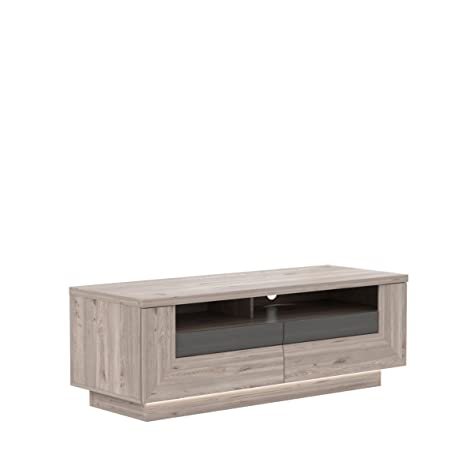 171929 TV-mueble, Nelson-roble/roble Gris