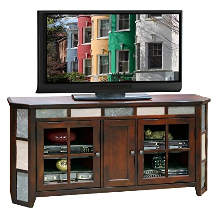 Legends Fire Creek 62 in. TV Angled Console - Danish Cherry