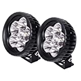 JAHURD LED Light Bar 18W Spot, 2 PCS 3