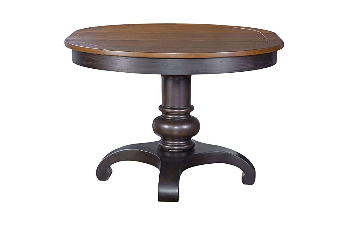 Furniture At Home American Heritage Collection Pedestal Table, Chocolate Oak
