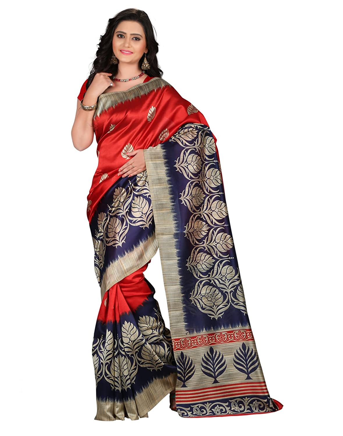 e-VASTRAM Womens Mysore Printed Art Silk Saree