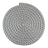 SGT KNOTS Twisted Nylon Rope (1 inch) Multipurpose Utility Line - Rot, Alkali, Chemical, Weather Resistant - Crafts, DIY Projects, Towing, Dock Lines, Heavy Load Uses (25 ft - White) (Color: White, Tamaño: 1 inch x 25 feet)