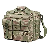 GES Laptop Bag - 15.6 Inch Men's Messenger Bag Multifunction Tactical Military Briefcase, Computer Shoulder Handbags for Laptop/Camera, CP Camouflage (Color: CP camouflage, Tamaño: CP camouflage)