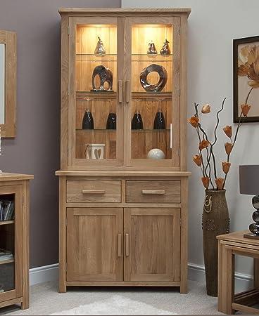 Eton solid oak furniture small dresser display cabinet