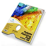 Bellofy Palette Painting Pad - Disposable 80 Sheets - 9x12 inches, 246lb / 400GSM - Perfect for Mixing Acrylic Paint, Oils, Watercolors, Caseins - Paint Mixing Palette, Oil Paint Mixing