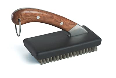 Charcoal Companion Compact Rosewood Handle Grill Brush Via Amazon