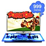 ElementDigital Arcade Console Games Box 999 in 1 Pandora's Box 5S Arcade Fightstick Machine 2 Players Metal Box with Dream Color LED Lights 999 Classic Video Games with HDMI VGA Output for TV PC