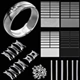 Ring Size Adjusters Invisible Ring Size Reducer for Any Size Loose Ring, Ring Adjuster with Jewelry Polishing Cloth, 3 Styles (Set 2) (Color: Set 2, Tamaño: 84 Pieces)