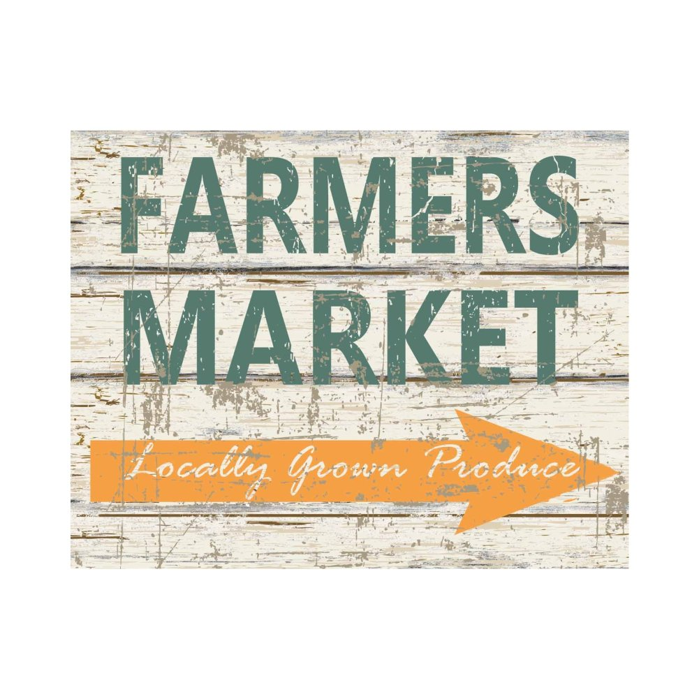 Farmers Market Box Sign