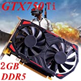 Graphics Card GTX 750Ti,NXDA GTX 750Ti 2GB GDDR5 128bit PCI-Express 3.0 Game Video Graphics Card For NVIDIA for GeForce, VGA DVI HDMI (Black) (Color: Black, Tamaño: 16.5x15x8.5cm)