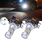 TUINCYN Xenon White H15 DRL Fog Light Replacement 2835 21SMD Extremely Bright Led Car Driving Daytime Running Lights 10.5W DC 12V (2-Pack)