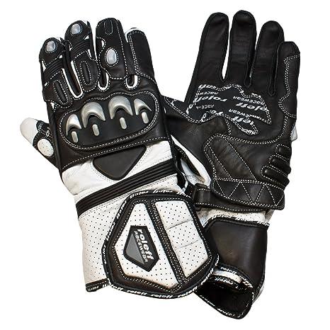 Roleff Racewear 0336 Gants Moto en Cuir, Noir/Blanc, XXL