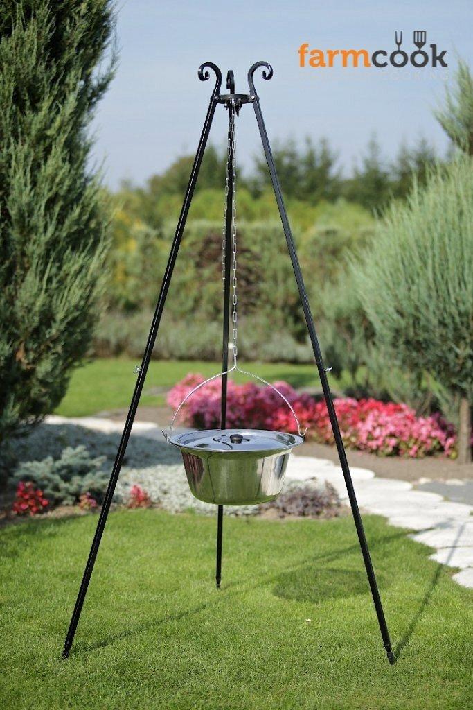 Farmcook Schwenkgrill – Dreibein Grill mit Edelstahl Kessel in 3 Größen (Dreibein 180 cm – 10 Liter Kessel) online kaufen