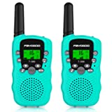 FAYOGOO Kids Walkie Talkies, 22-Channel FRS/GMRS Radio, 4-Mile Range Two Way Radios with Flashlight and LCD Screen, and Toys for 3-12 Year Old Boys and Girls (T388-Blue) (Color: T388-Blue)