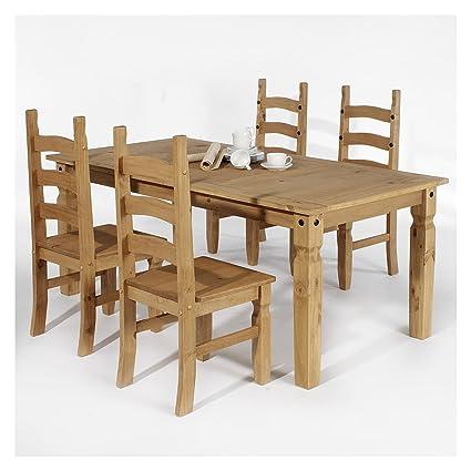 Essgruppe Tischgruppe Essgarnitur TEQUILA Mexico Möbel 1 Tisch + 4 Stuhle