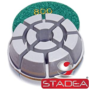 granite marble floor polishing pads - Grit 100 By Stadea (Color: Pack of 1, Tamaño: Grit 100)