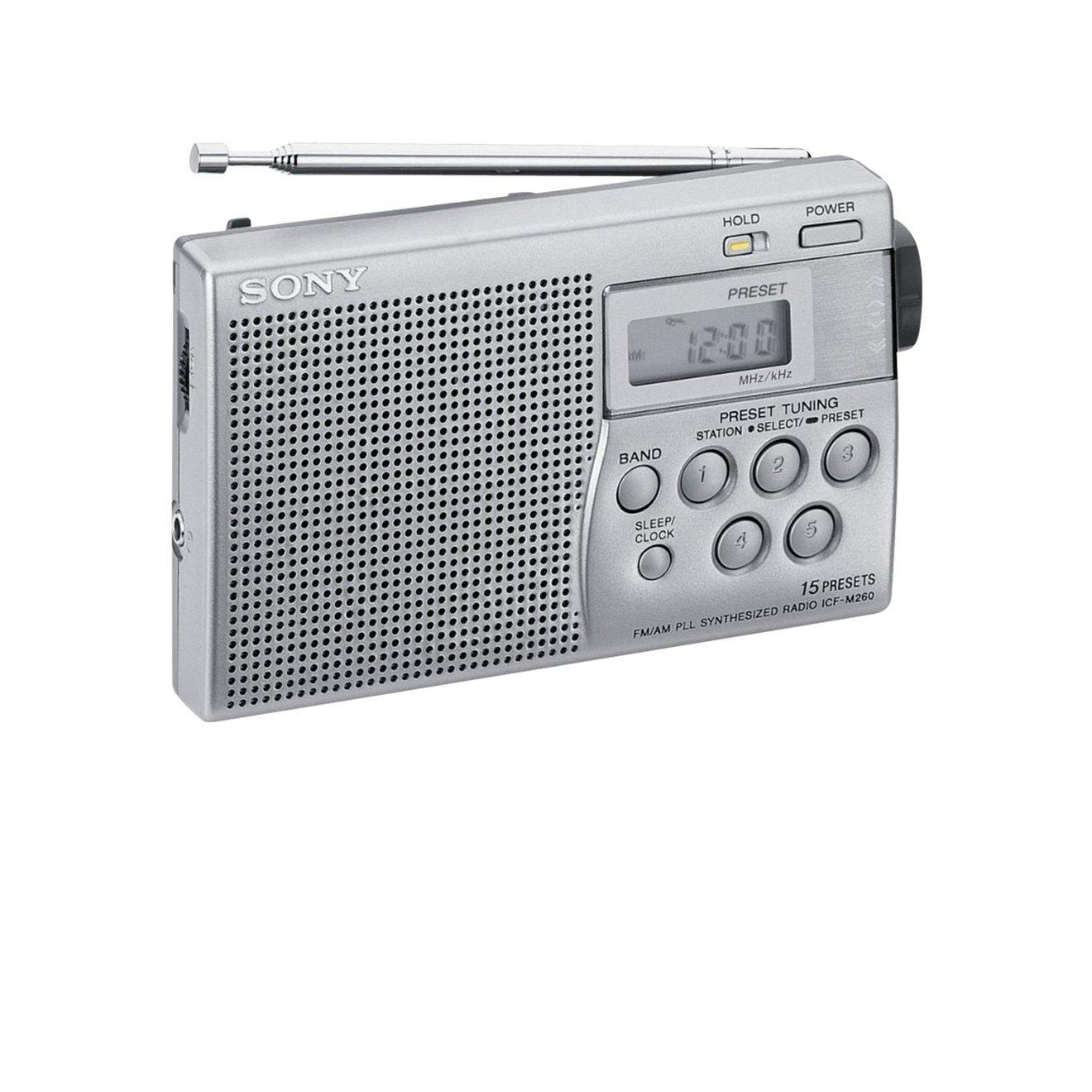Sony radio num rique portable compacte fm am icf m260 ebay for Radio numerique portable