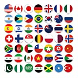 100 Pieces Creative Fashion Steel Thumb Tacks Push Pins Decorative Different Patterns for Photos Wall, Maps, Bulletin Board or Corkboards (National Flag) (Color: National Flag)