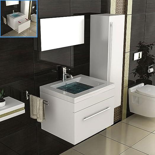 Mobile bagno bianco/lavabo con mobiletto/lavabo sotto armadio/rettangolare Mobili/modello Mika bianco/sotto l' armadietto con Soft Close Funzione/lavabo