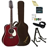 Takamine 12 String Acoustic-Electric Guitar, Right Handed (JJ325SRC-12-KIT-2) (Color: Gloss Red 12 String Kit)