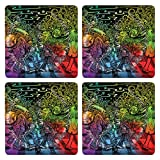 Posterboy The Alien Beatles MDF Coaster Set, Set Of 4, 101mm, Multicolor