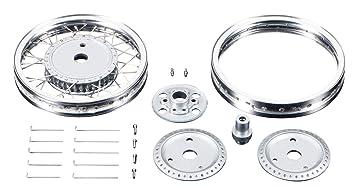 Tamiya - 12631 - Accessoire Pour Maquette - Roues Av/arrière Métal Rc166