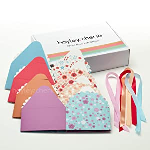 Hayley Cherie Gift Treat Boxes with Ribbons (20 Pack) - Thick 400gsm Card - 6 x 6 x 3.7 Inches - Use for Cakes, Cookies, Goodies, Candy, Party Christmas, Birthdays, Bridesmaids, Weddings (Standard) (Tamaño: Standard)
