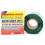 Rescue Tape RT1000201207USCO Self-Fusing Emergency Repair Tape, Green, Silicone