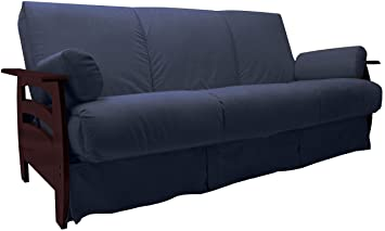 Epic Furnishings Rumba Perfect Sit and Sleep Transitional Style Pocketed Coil Pillow Top Sofa Sleeper Bed, Queen Size, Dark Blue Upholstery