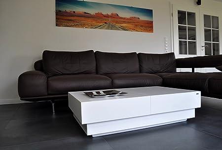 Design Couchtisch S-70 Weiß Schublade Stauraum Carl Svensson