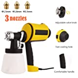 Advanced Electric Spray Gun Paint Sprayer with 3 Spray Patterns, 3 Nozzle Sizes, Adjustable Valve Knob, and Easy Filling Detachable Container (Color: Paint Sprayers)