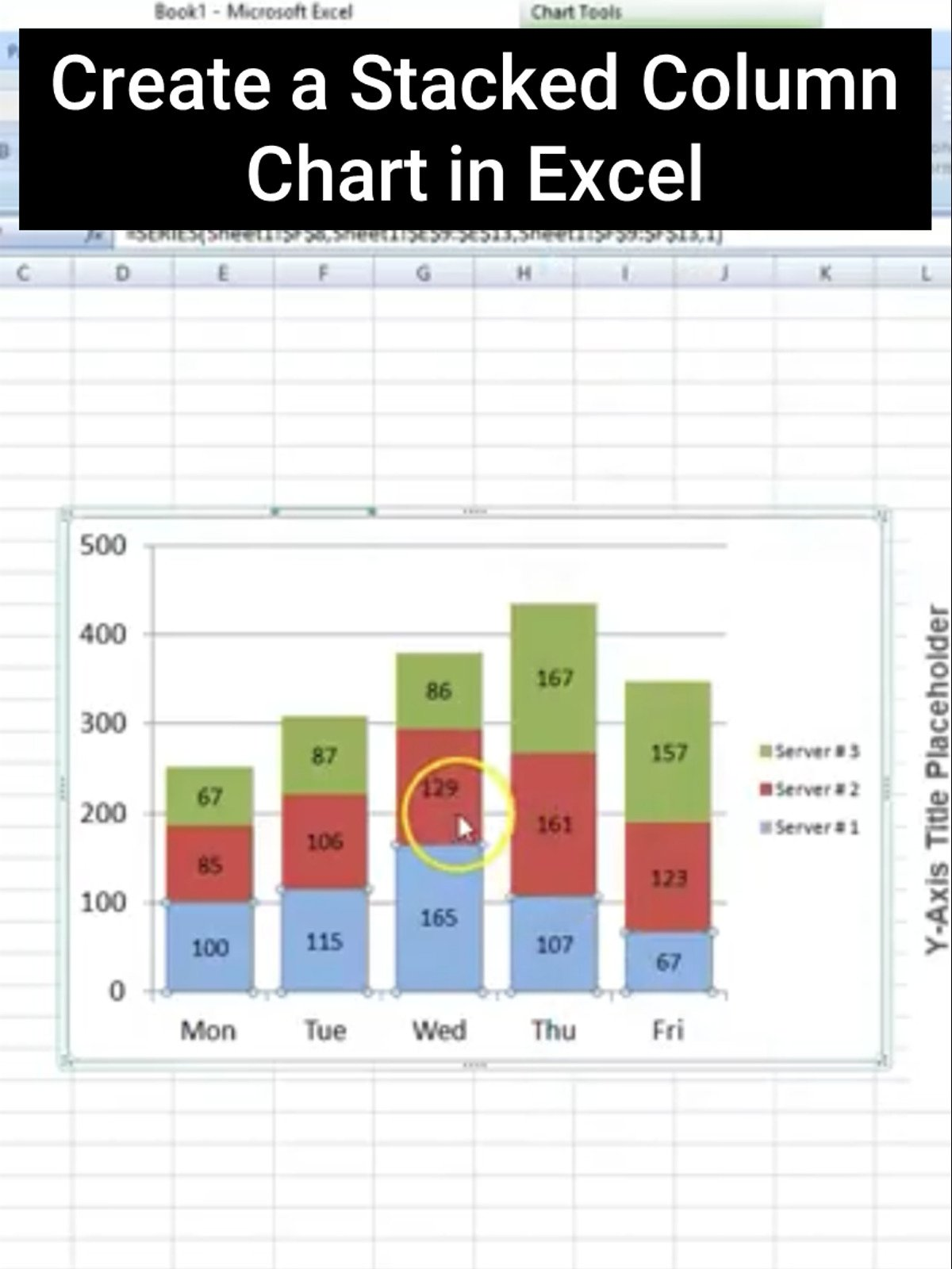 Create a Stacked Column Chart in Excel