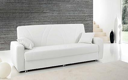 Divano trasformabile letto - Ecopelle tortora
