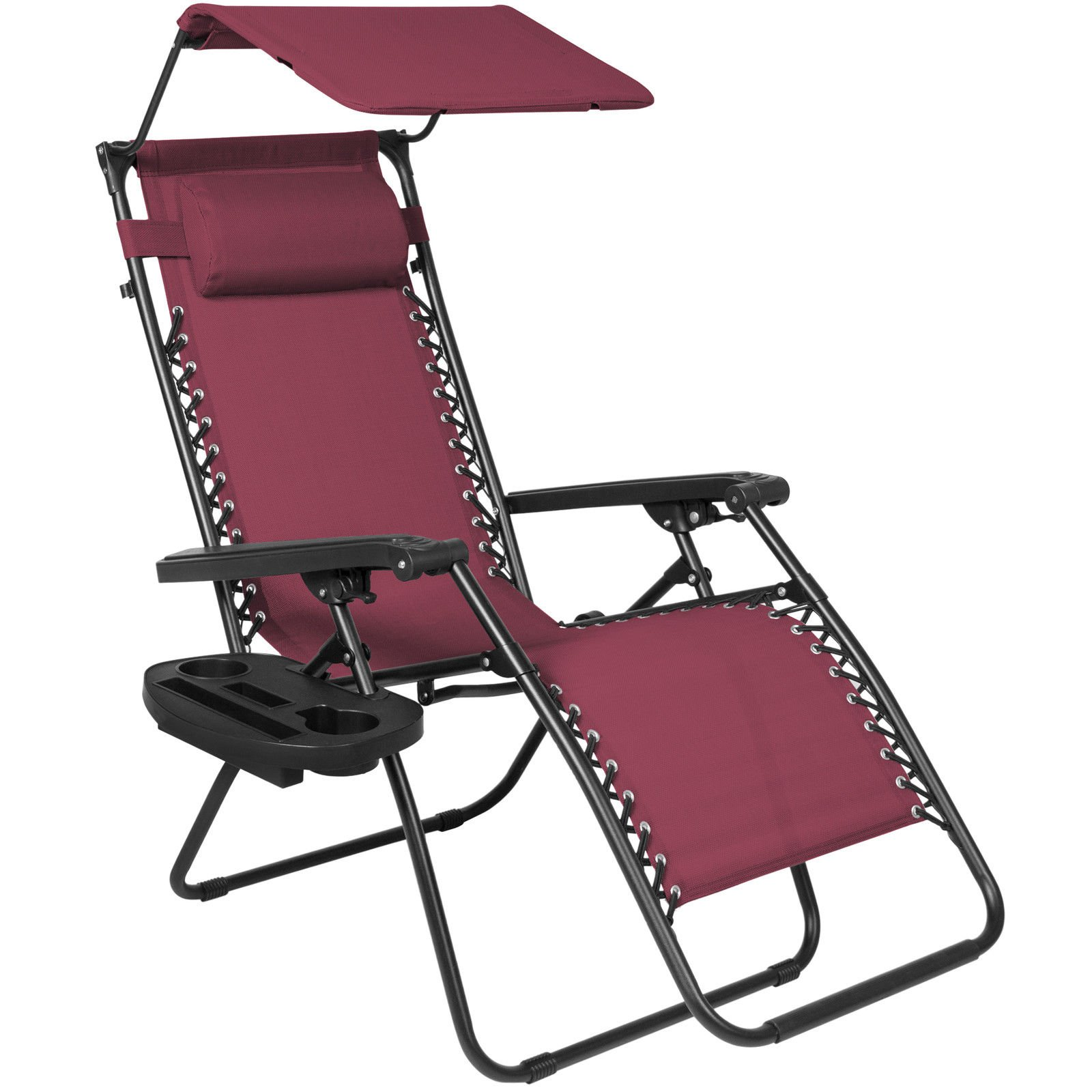Buy Folding Reclining Burgundy Lounge Chair Now!