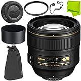 Nikon AF-S NIKKOR 85mm f/1.4G Lens Base Bundle (Color: 85MM 1.4, Tamaño: Base)